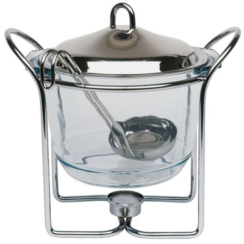 Warmer HOT POT Ø23cm/H26cm Glass/Metal - 1pc.