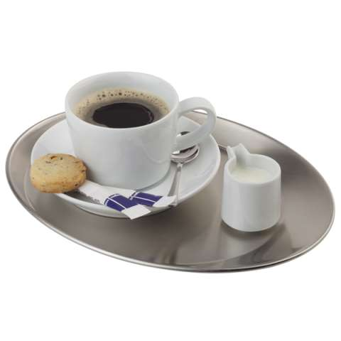Tray KAFFEHAUS 25,5x19,5cm/height2cm Stainless Steel - 1pc.