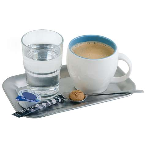 Tray KAFFEEHAUS 21,5x13cm/height1,5cm Stainless Steel - 1Stk.