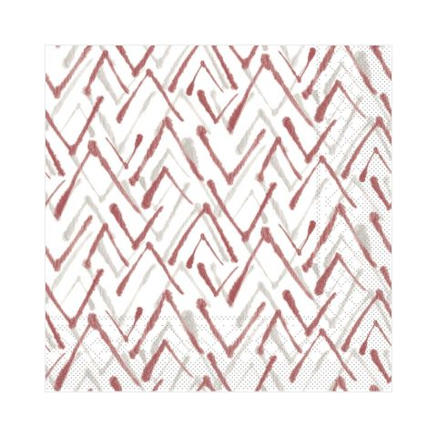 Napkins ZACK 33x33cm TISSUE 3-ply bordeaux - 600pcs.