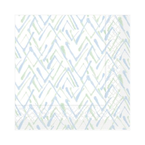 Napkins ZACK 33x33cm TISSUE 3-ply green/blue - 600pcs.
