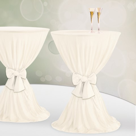 Table Cover Ø60-80cm Polyester champagne - 1pc.