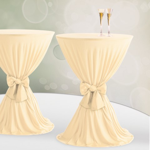 Table Cover Ø60-80cm Polyester sparkling - 1pc.