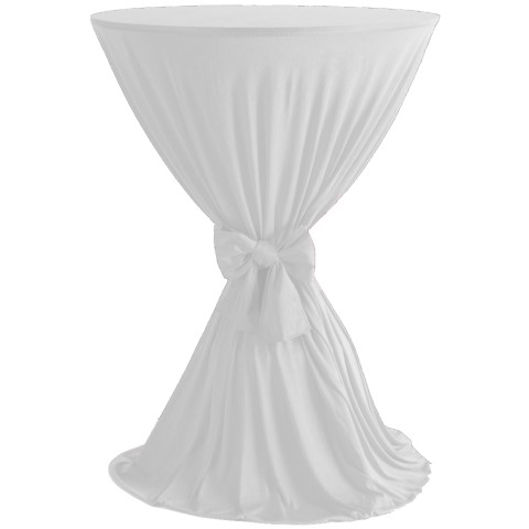Table Cover Ø60-80cm Polyester white - 1pc.