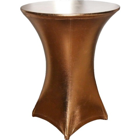 Stretch Table Cover Ø70-85cm Polyester copper - 1pc.