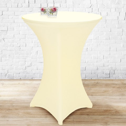 Stretch Table Cover Ø70-85cm Polyester sekt - 1pc.