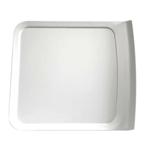 Tray CASCADE 28,5x25,5cm/height2,4cm MELAMIN white - 1pc.