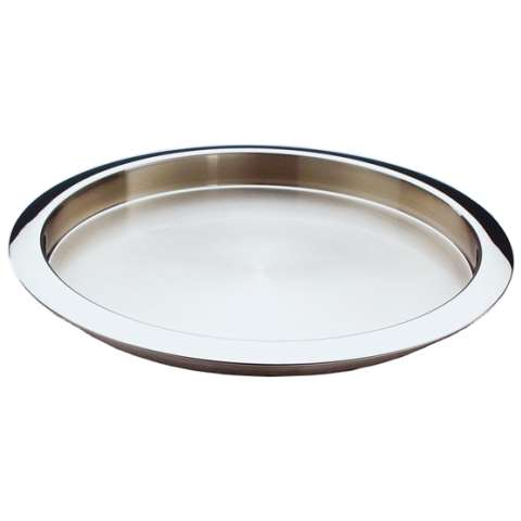 Tray Ø35cm/height3cm Stainless Steel 18/8 poliert - 1pc.