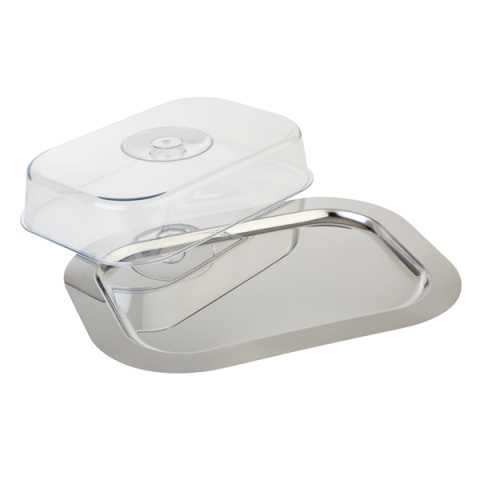 Tray FINESSE & Cover 42x31cm/height8,5cm Stainless Steel - 1pc.