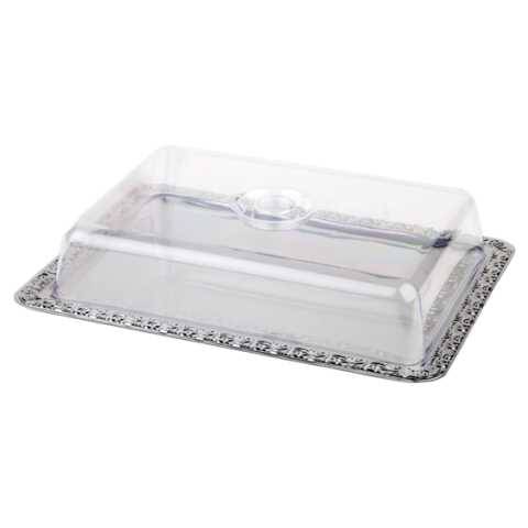 Tray 42x31cm/height8cm Stainless Steel18/0 - 1pc.