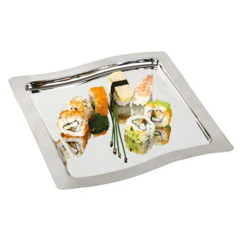 Tray SWING 32,5x32,5cm/Height1cm Stainless Steel - 1pc.