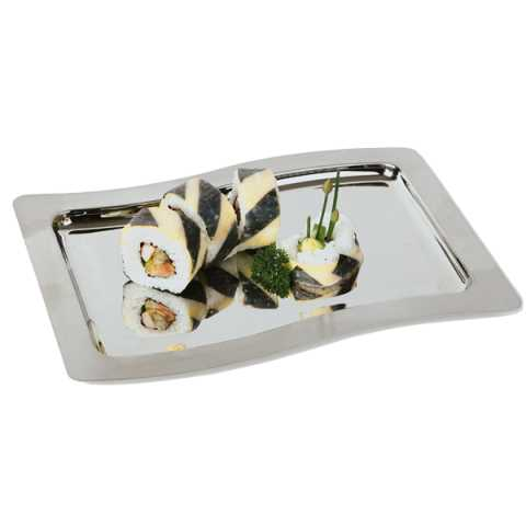 GN Tray SWING 53x32,5cm/Height1cm Stainless Steel - 1pc.