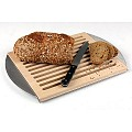 Cutting Board 48x32cm/height2cm Wood/Stainless Steel  - 1pc.