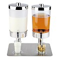 Juice and Milk Dispenser 2x6ltr. 35x45cm STAINLESS STEEL - 1pc.