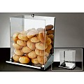 Bread Dispenser INOX 32,5x27,5cm/height42cm Acrylic - 1pc.