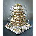 Buffet-Stand Set LARGE 30x30cm/height53cm Stainless Steel - 1pc.