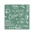 Napkins COFFEE TIME 25x25cm 1/4fold TISSUE anthrazit - 1200pcs.