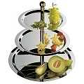 Etagère FINESSE 3-tier Ø32/38/48cm/height50cm Stainless Steel -