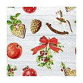 Napkins ADVENT 33x33cm 1/4fold TISSUE 3-ply - 600pcs.
