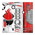 Napkins BBQ-TIME 33x33cm 1/4fold TISSUE - 600pcs.
