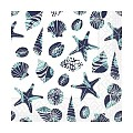 Lunch Napkins BEACH 33x33cm 1/4fold TISSUE blue - 600pcs.
