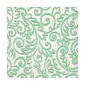 Lunch Napkins BOSSE 33x33cm 1/4fold TISSUE green - 600pcs.