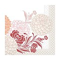 Lunch Napkins CLARISSA 33x33cm 1/4fold TISSUE bordeaux - 600pcs.