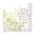 Lunch Napkins CLARISSA 33x33cm 1/4fold TISSUE green - 600pcs.