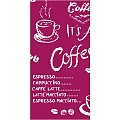 Napkins COFFEE TIME 33x33cm 1/8fold LINCLASS red - 300pcs.