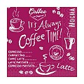 Napkins COFFEE TIME 33x33cm 1/4fold TISSUE bordeaux - 600pcs.
