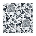 Napkins FOREST 33x33cm 1/4fold TISSUE grey/black - 600pcs.