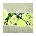 Napkins LOVELY ROSES 33x33cm 1/4fold TISSUE yellow - 600pcs.
