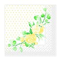 Napkins MARGIT 33x33cm 1/4fold TISSUE 3-ply yellow - 600pcs.