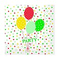 Napkins PARTY BALLONS 33x33cm 1/4fold TISSUE red - 600pcs.