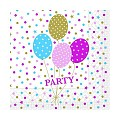 Napkins PARTY BALLONS 33x33cm 1/4fold TISSUE pink - 600pcs.