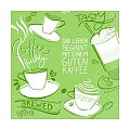 Napkins TASTY COFFEE 33x33cm 1/4fold TISSUE 3-ply olive - 600pcs