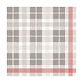 Lunch Napkins FRED 33x33cm 1/4fold TISSUE grey/red - 600pcs.