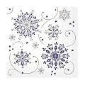 CRISTAL Napkins Christmas 33x33cm TISSUE blue - 600pcs.