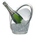 ChampagneCooler 3ltr 23x22cm/height27,5cm MS-Plastic clear - 1pc