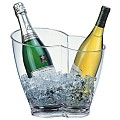 Wine/ChampagneCooler 4ltr 30x21cm/height26cm MS-Plastic clear -