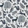 Napkins FOREST 40x40cm 1/4fold Linclass grey/black - 300pcs.