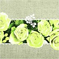 Napkins LOVELY ROSES 40x40cm 1/4fold LINCLASS yellow - 300pcs.