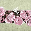 Napkins LOVELY ROSES 40x40cm 1/4fold LINCLASS pink - 300pcs.