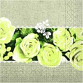 Napkins LOVELY ROSES 40x40cm 1/4fold TISSUE yellow - 600pcs.