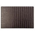 Place Mats CROCO 45x30cm PLASTIC brown - 6pcs.