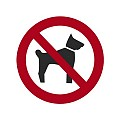 Signs Ø10cm NO DOGS white/red - 1pc.