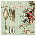 LOVE&JOY Xmas Napkins 40x40cm LINCLASS/AIRLAID green - 600pcs.
