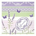 FRIEDA Napkins 33x33cm 1/4fold TISSUE purple/green - 600pcs.