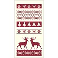 BASTI Xmas Pocket Napkins 1/8fold AIRLAID bordeaux - 600pcs.