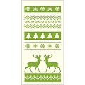 BASTI Xmas Pocket Napkins 40x40cm 1/8F AIRLAID green - 600pcs.